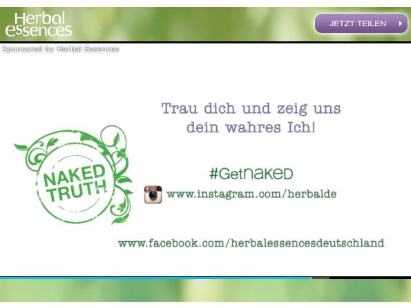#getnaked - Herbal Essences