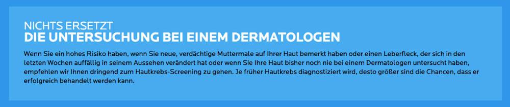 Nichts ersetzt den Dermatologen