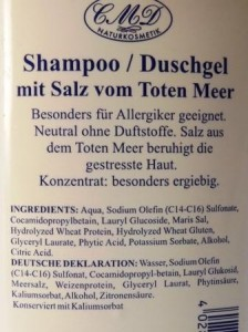 Deklaration ShampooDuschgel Neutral