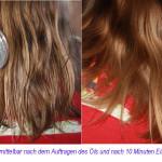 Haare mit Öl pflegen
